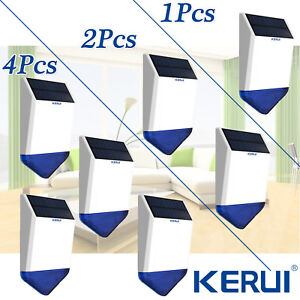 Kerui Wireless Huge Waterproof Outdoor Solar Power Siren Lot For Alarm System