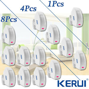 433mhz Kerui Wireless Curtain Pir Motion Detector Sensor For Home Alarm System