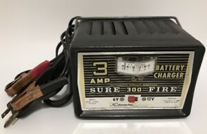 Vtg Schumacher 3 Amp 6 12 Volt Battery Charger Solid State Sure Fire 300 Ws63