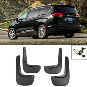 For 17 18 Chrysler Pacifica Front Rear 4pcs Set Fender Splash Mud Guards Flaps