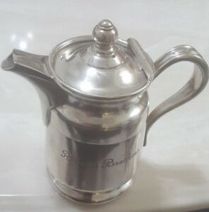 Reed Barton Silver Soldered 2800 12 Oz Antique Cremer Pitcher Gift Decoration