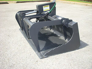 Toro Dingo Mini Skid Steer Attachment 42 Smooth Bucket Grapple Ship 149