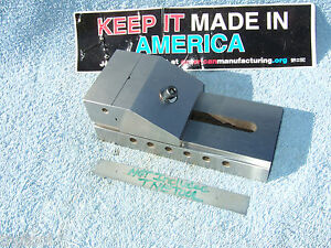 Vise Vintage Usa Machinist Toolmaker 3 x3 x7 Grind Inspection Qa Fresh Ground