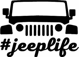 Jeep Life Decal Sticker Jk Choose Color Made W Quality Oracal 651