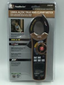 Southwire 1000a Ac dc True Rms Clamp Meter model 22070t new