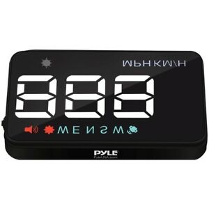 Pyle Phud12 Vehicle Speed Gps Compass Monitor System Heads up Display