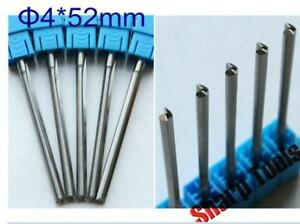 5pcs 4x4x52mm Double Flute Straight Slot Engraving Wood Cnc Router Bits