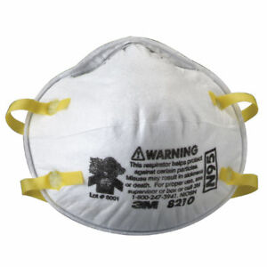 3m 8210 Sealed Case Of 160 3m Dust Masks Respirator N95 Approved