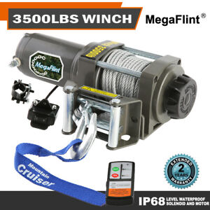 3500 Lbs Electric Trailer Recovery Winch Atv Boat Truck Car 12v Input 1 5 Hp