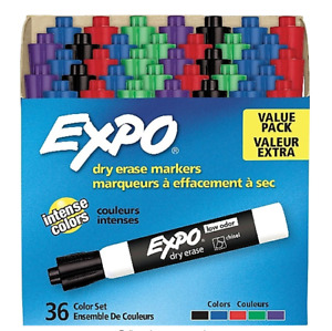 Expo Dry Erase Markers Chisel Tip Assorted Colors 36 pack