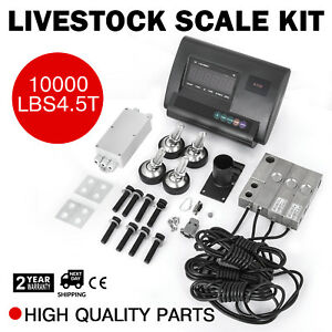 10000lbs Livestock Scale Kit For Animals Agriculture Indicator Animal Weighing