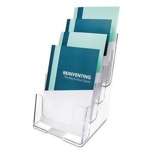 Clear Plastic Document Holder With Multi compartments Desk Tabletop Organizer