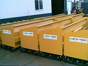 10 Snow Hawg Snow Pusher Plow For Skid Steer