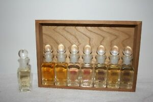 Vtg 1999 California Perfume Company Perfume Set Cologne Daubers In Wooden Case