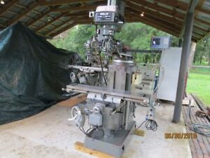 Webb Champ 3 Hp Vertical Mill 3 Axis Power Feed And Power Draw Bar W Anilam Dro