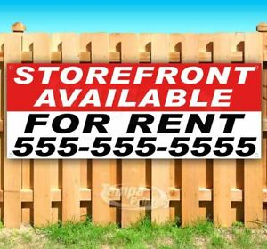 Storefront Available For Rent Advertising Vinyl Banner Flag Sign Many Sizes