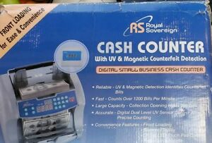 Royal Sovereign Bill Cash Digital Counter Rbc 1003 Counterfeit Detector Remote