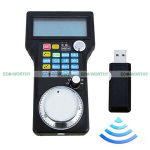 Wireless Handwheel Controller Usb Mpg Pendant Lcd For Cnc 4 Axis Mac Software Us