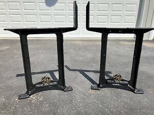 Antique C 1930 S Restored General Electric Ge Cast Iron Industrial Table Legs