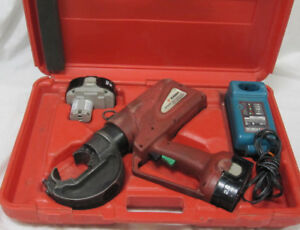 Burndy Patriot Pat750xt 18 Volt Hydraulic Crimper W Accessories