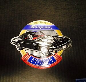 Vintage Snap On Tools Chrome Foil Decal 1963 Vette American Classic Sticker
