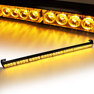 35 36 32 Led Emergency Warning Traffic Advisor Strobe Flashing Light Bar Amber