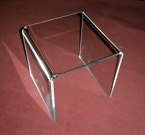 clear Acrylic Square Riser Risers Pedestals Display Stands Pick Size