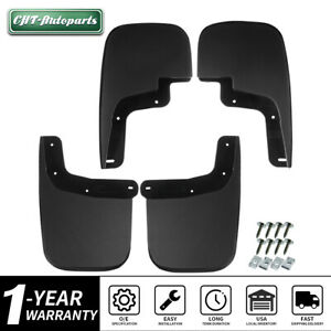 4 Pcs Full Set Mud Flaps Splash Guards For Chevrolet Colorado Gmc Canyon 2015 18