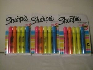 Sharpie Accent 5 pack Assorted Tank Style Highlighters 3 Pack