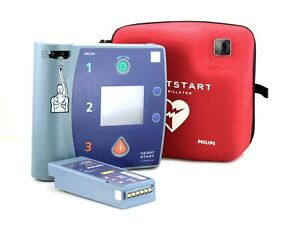 Philips Fr2 Heartstart Aed Defibrillator Ecg M3860a Good Battery New Pads