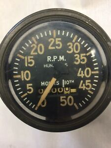 Glass Case Tachometer Nos Vintage Rat Rod Antique Classic Vintage Automobile