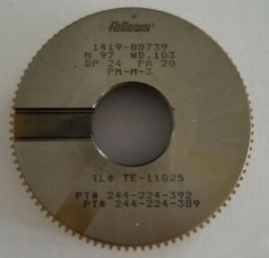 Fellows Gear Shaper Cutter Dp 24 Pa 20 For Sale