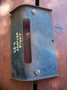 1968 Dodge Charger Front License Plate Mount 69 Rt