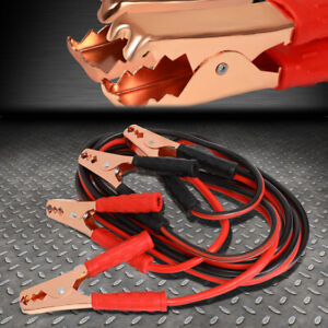 Heavy Duty 10 Gauge 12 Ft Battery Booster Cable Emergency Power Jumper 200 Amp