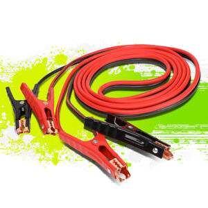 16ft 6 Gauge Booster Jumper Cable Emergency Car Battery Start Heavy Duty 400amp