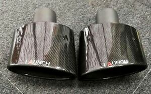 Oval Rs Genuine Carbon fiber Exhaust Tips Audi Vw Rs R Ford Rs A4 A6 A3 A5 Rs4