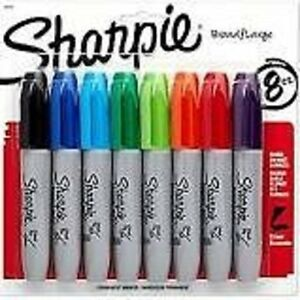 Set Of 4 Assorted Sharpie Chisel Tip 8 Pack Office Products