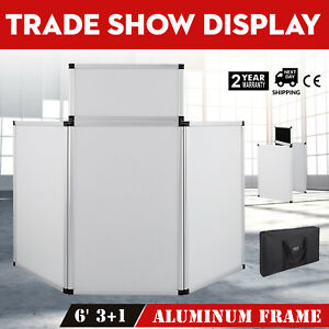 5 9 X 3ft Trade Show Display 3 Panel 1 Header Carry Bag Fabric Surface