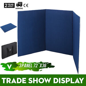 72 X 36 3 Panel Tabletop Display Presentation Board W Carry Bag Pvc Stand