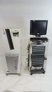 Agfa Cr 35 x X ray Digitizer Type 5158 100 Nx Workstation W Monitor And Cart