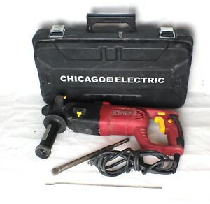 Chicago Electric Sds 62503 Rotary Hammer Drill Heavy Duty Corded 1 Power Tool