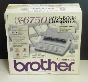 Brother Gx 6750 Electric Electronic Typewriter Portable Daisy Wheel Tested