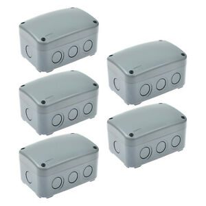 5 Pack Ip66 Weatherproof Enclosure Shell Case Electrical Junction Box Waterproof
