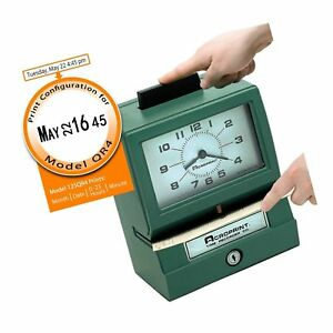 Acroprint 011070413 Model 125 Analog Manual Print Time Clock With Month date