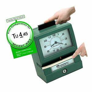 Acroprint 125ar3 Heavy Duty Manual Time Recorder For Day Of The Week Hour 1