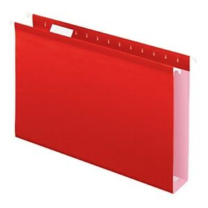 Pendaflex Extra Capacity Reinforced Hanging File Folders 2 Legal Size Red