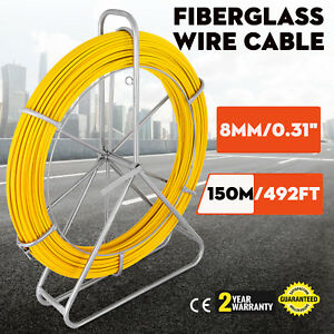 8mm 150m Fiberglass Wire Cable Running Rod Fish Tape Puller Rodder Pulle Duct