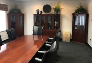 Used Office Furniture Jsi Conference Room Table Boardroom Set Chairs Credenza