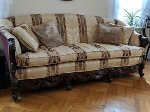 Vintage Mahogany Couch And Chair Length 81 1 2