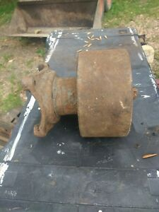 Antique Flat Belt Pulley Attachment Crawler Tractor Pto